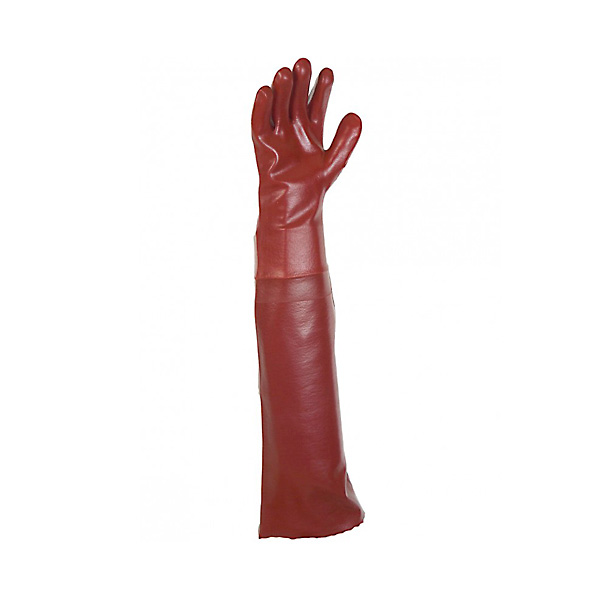 Guante PVC Liso Rojo 70cm 9.5